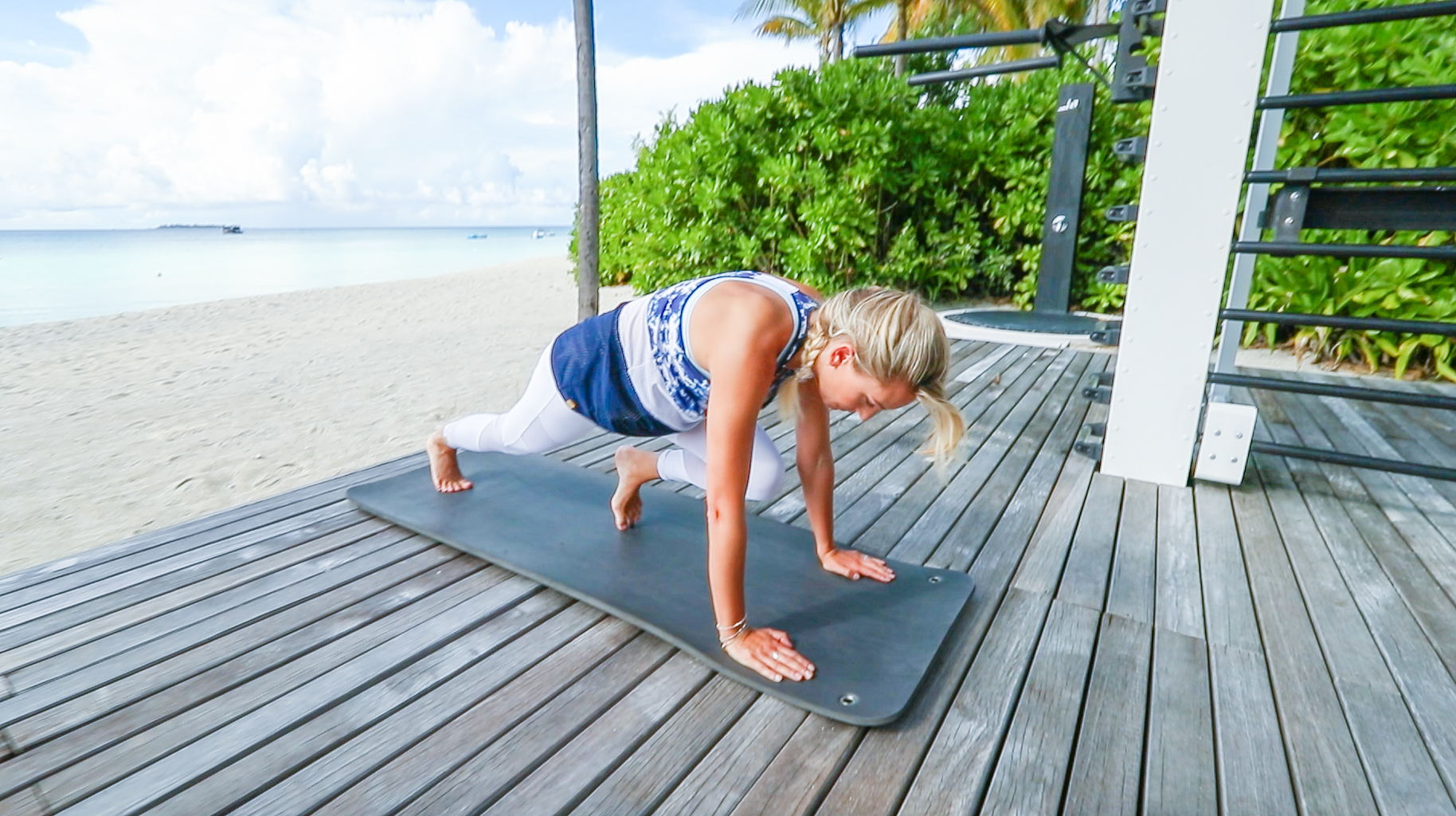 Fitness On Toast Faya Blog Girl Healthy Workout Training Maldives Working Out Ab Routine Beach Easy Moves Rock Hard Stomach Abdominals