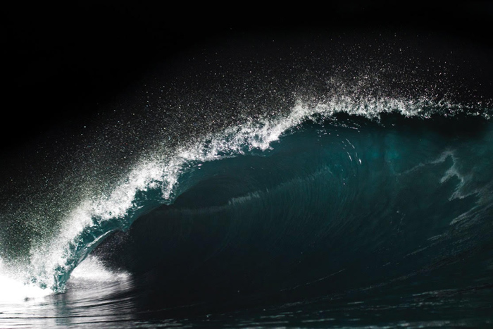 Shark Island wave at night - Shannon Glasson
