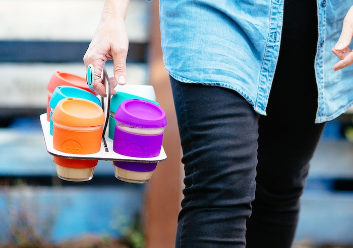 Reusable coffee cup delivery